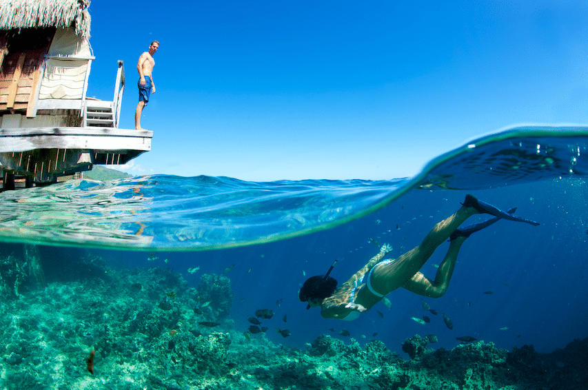 Manava beach moorea plongée